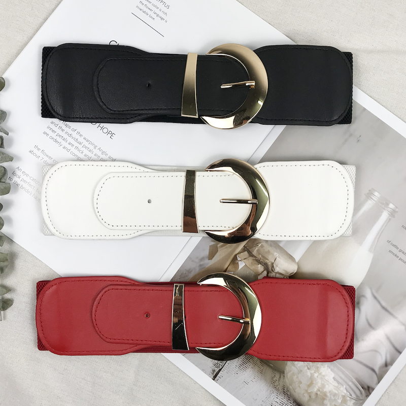 Wide Belt Woman Waist Elastic Belts For Women Plus Size Cummerbunds Designer Belts High Quality Big Ceinture Femme Waistband
