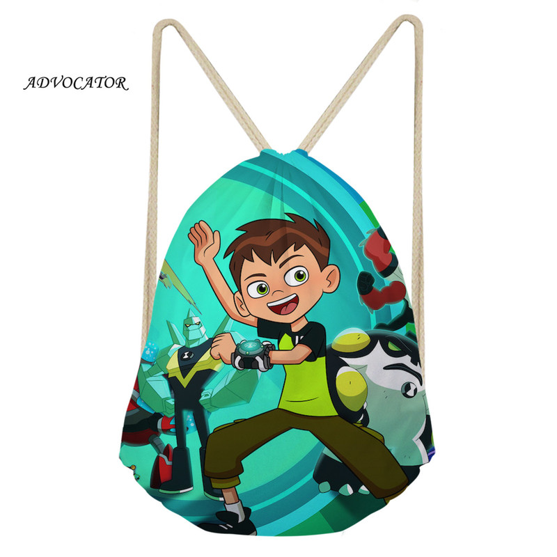 ADVOCATOR Ben 10 Pattern Kids 3D Drawstring Pouch Waterproof Sport Backpack Boys And Girls Daily Storage Bag Pocket Mochila Saco