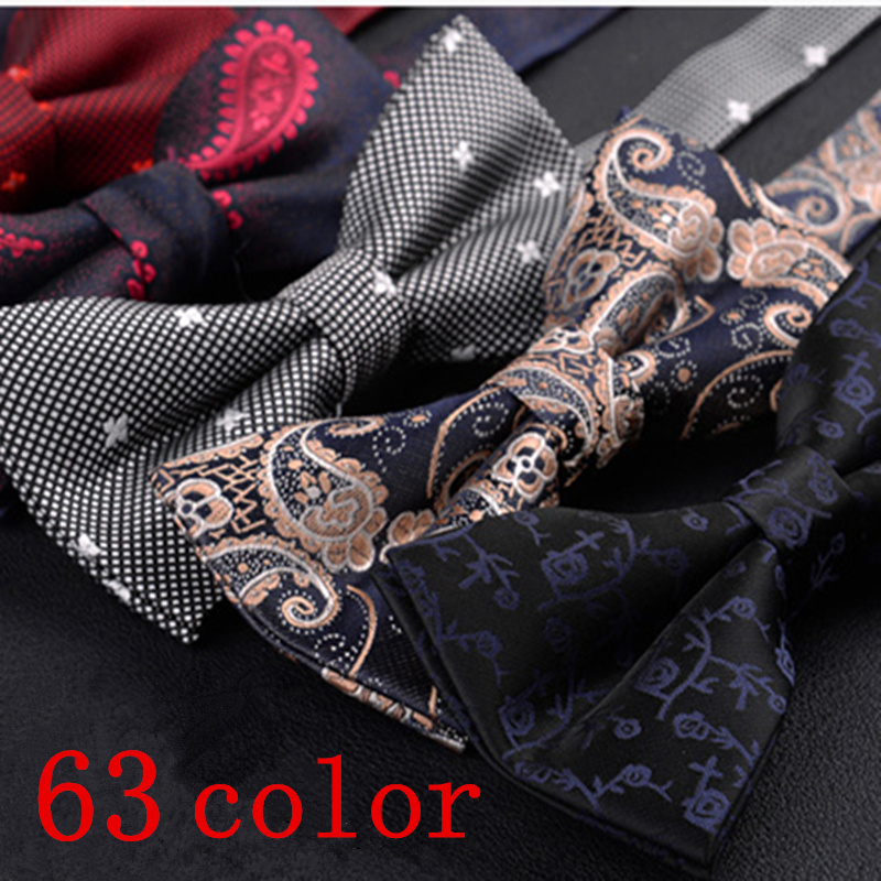 Men Fashion Bow Tie Blakc Vintage Bowtie Polka Dot Butterfly Striped Boys Shirt Yellow Navy Blue Red Wedding Regalos Para Hombre