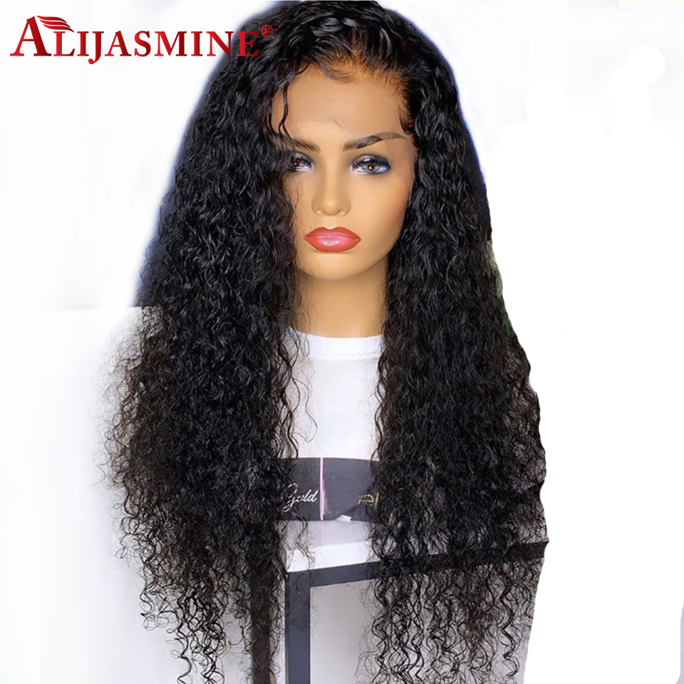 AliJasmine 360 Lace Frontal Wigs For Black White Women Water Wave Lace Front Remy Human Hair Wig With Baby Hair