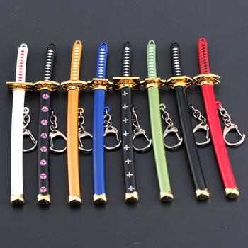 Llaveros de una pieza de animé de 15Cm Roronoa espada de Zoro kitetsu modelo de juguete llavero de Metal artículos de decoración exquisitos llavero de joyería