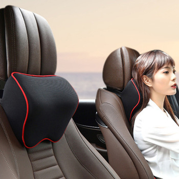 Car Neck Headrest Pillow Car Accessories Cushion Auto Seat Head Support Neck Protector Automobiles Seat Neck Rest Memory Cotton 1