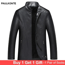 Mens fashion casual velvet leather jacket autumn and winter new high quality versatile comfortable warm mens