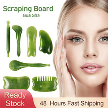 3pcs Natural Resin Massage Scraping for Face Neck Gua Sha Scraper Massager Therapy Face Meridian Scrapping Plate Massage Tool
