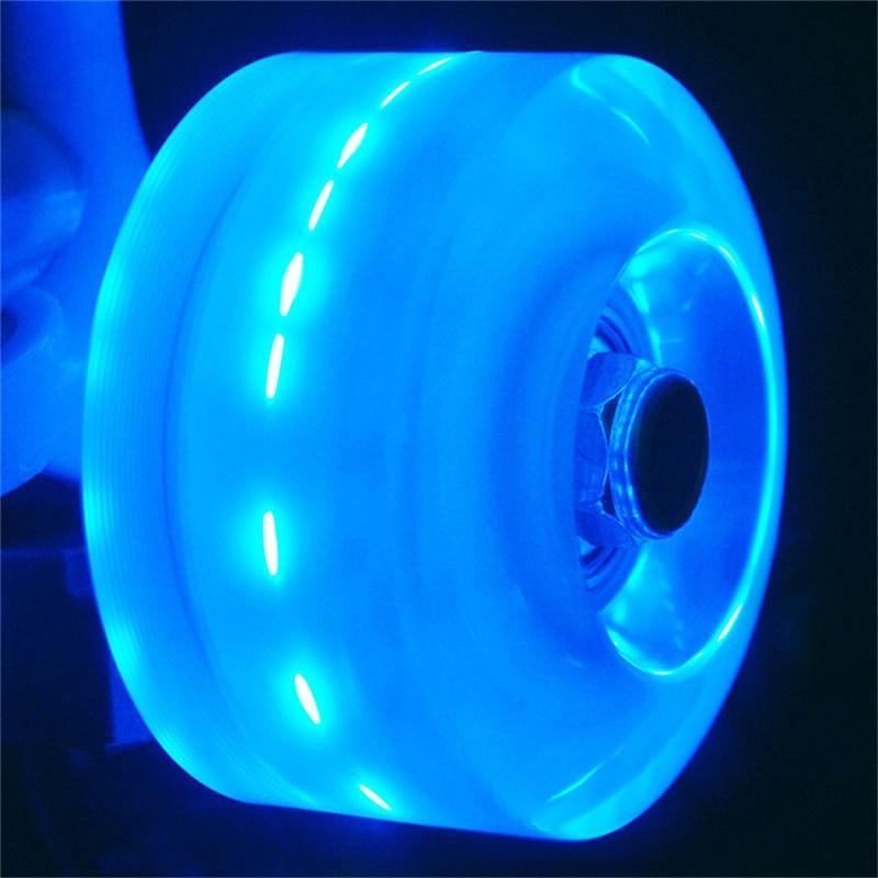[32*58mm] Original Led Flashing 82A PU Skates Wheel Quad Skates Wheels With Bearings Magnetic Core Double Roller 8 Pcs/set