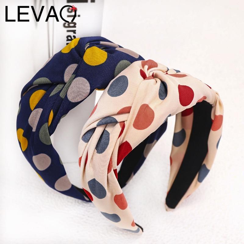 LEVAO Drum Headband Turban Dot Hairband Sweet Female Bezel For Women Lady Hair Hoop Hair Accessories   Headwear   Elegant Headdress