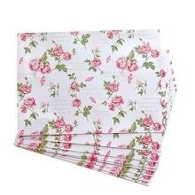 50 шт розовый конверт пасторальный цветочный белый бумажный