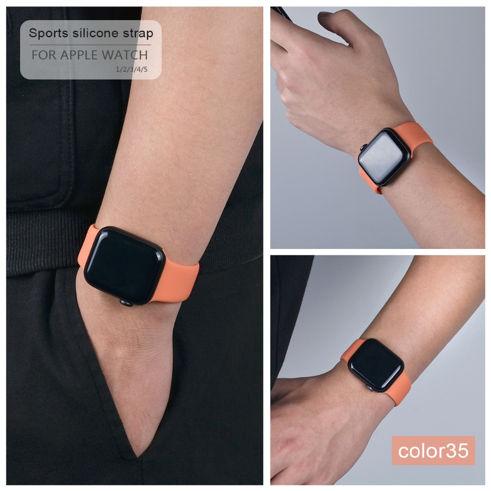Soft Silicone Band for Apple Watch 108
