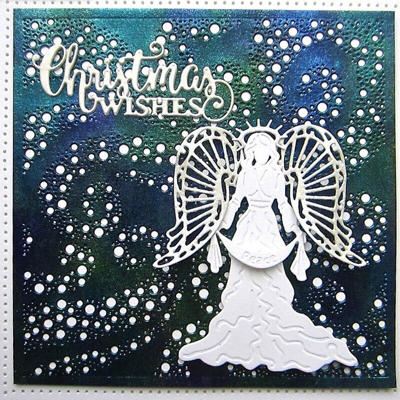 Merry Christmas Metal Cutting Die,Angels,Stars,Stencil,Craft,Card Making,DIY