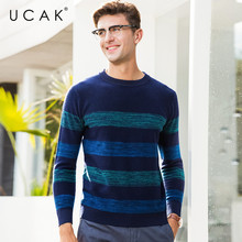 UCAK Brand Sweater Men Pure Merino Wool Pullover Men O-Neck Pull Homme 2019 New Autumn Winter Thick Warm Cashmere Sweaters U3064