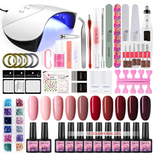 Nail Set UV LED Lamp Dryer With COSCELIA Nail Gel Polish Kit Soak Off Manicure Set Gel Nail Polish For Nail Art Tools
