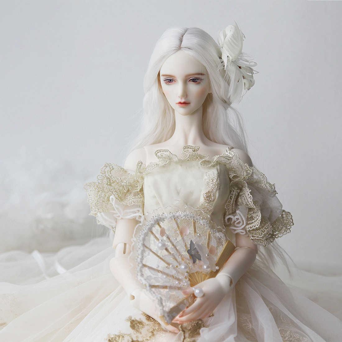 Bambola Costume Del Bordo Del Merletto Abito Da Sposa Per 1/4 Per 1/3 BJD Bambole Cervello Giocattolo Per I Bambini Giocattoli Educativi Regalo Di Compleanno-No Bambola