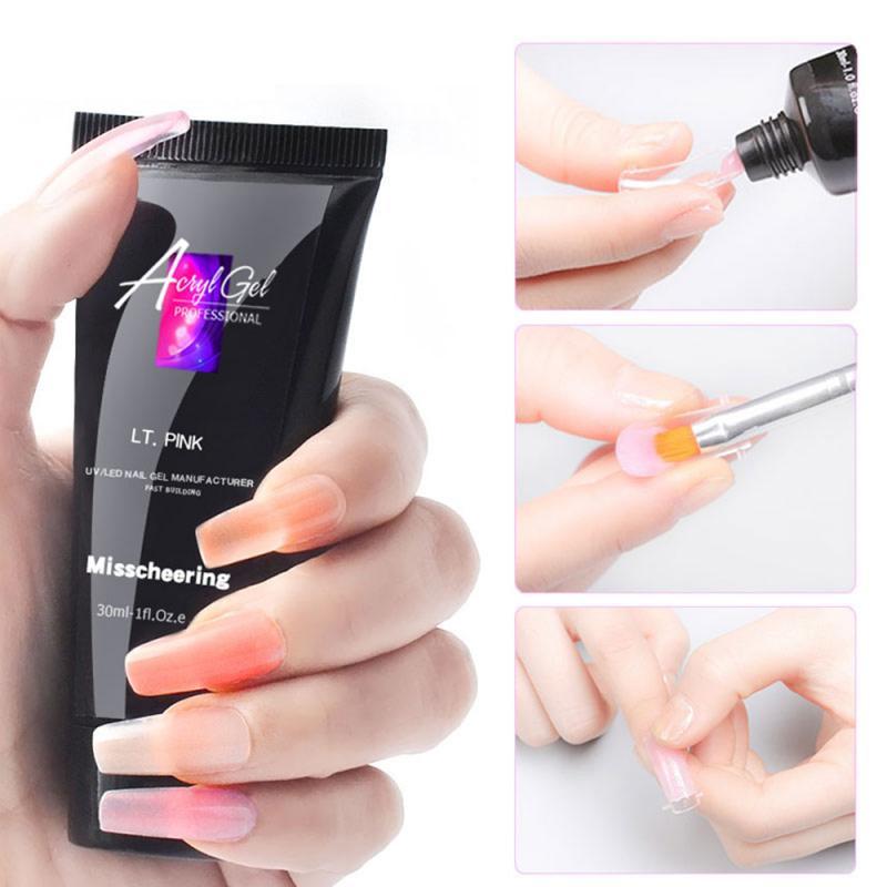 Отмачиваемый полигель для ногтей УФ акриловый гель быстрое наращивание ногтей Камуфляжный УФ светодиодный твердый гель для ногтей TSLM2