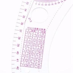 Хит, 7 шт./компл., линейка, Измерительный набор, швейная линейка для рисования, втулка, рукоятка, французский набор кривых, разделочная линейк...