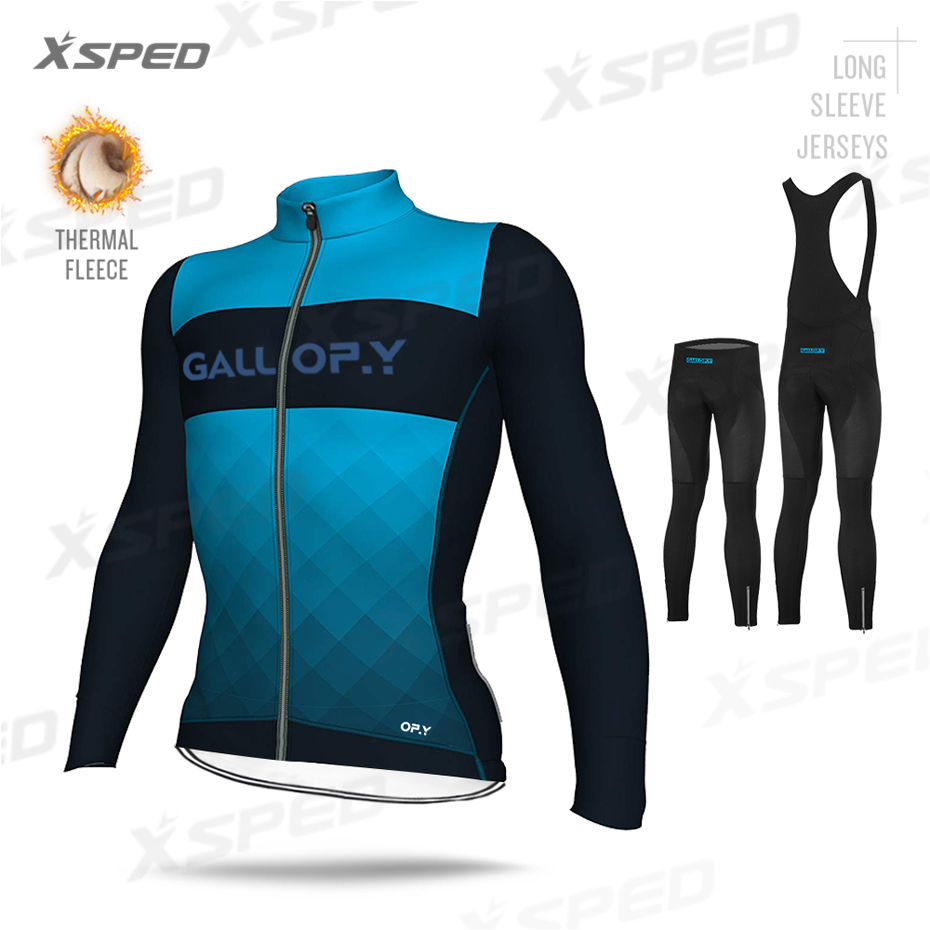 2020 зимняя мужская куртка для велоспорта с длинным рукавом, комплект Джерси, профессиональная командная одежда, Теплая Флисовая одежда для г...