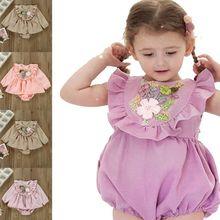 Одежда для новорожденных комбинезоны с длинным рукавом и цветочной