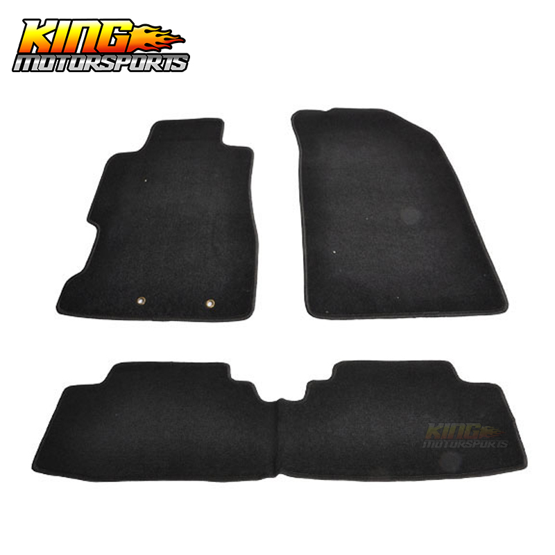 Fit For 01 05 Civic 02 05 Honda Civic Si Black Nylon Floor Mats