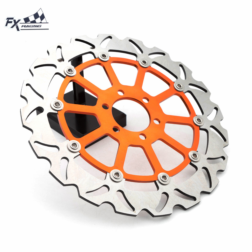 Brake-Disc-Rotor Motorcycle KTM DUKE390 Gold 320mm Black Orange for Floating-Front 200 title=