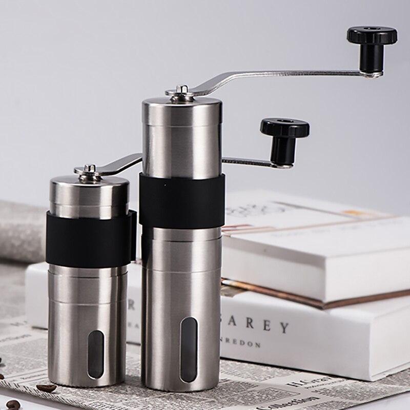 Новая ручная кофемолка Мини Ручной конический заусенец кофемолка эспрессо кофе мельница инструменты керамический механизм для кофе ручно...