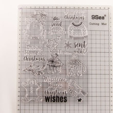 Transparent Silicone Clear Rubber Stamp Sheet Cling Scrapbooking DIY Christmas Pattern Photo Album Paper Card Decor Stamp