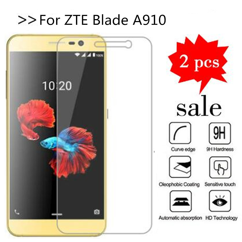 For ZTE Blade A910 Tempered Glass Original 9H High Quality Protective Film Explosion-proof Screen Protector For ZTE A 910