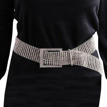 [LFMB]luxe brillant pleine strass incrusté femmes ceinture mode femme mariée large Bling cristal diamant taille chaîne ceintures
