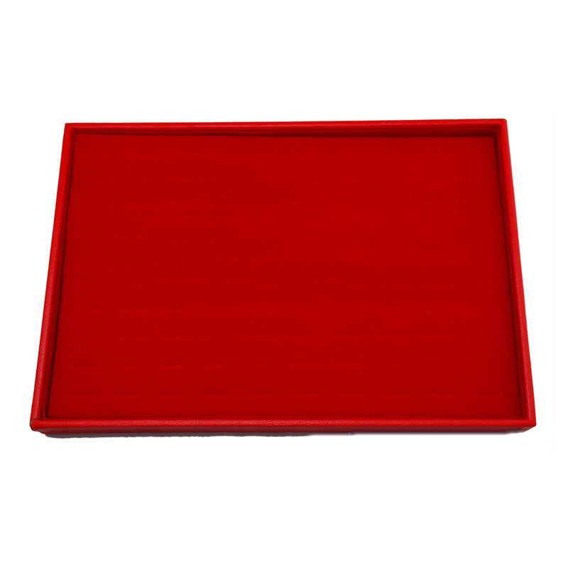 Wholesale Red Velvet Plates/Ring/Necklace Jewlery Box Display Box