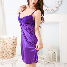 Sexy Ladies nightdress Women Babydoll Lace Bow Und