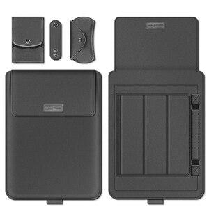 Image 2 - 노트북 가방 PU 가죽 슬리브 가방 케이스 Macbook Air Pro 13 15 노트북 슬리브 가방 Macbook air 11 12 13.3 15.4 인치 케이스