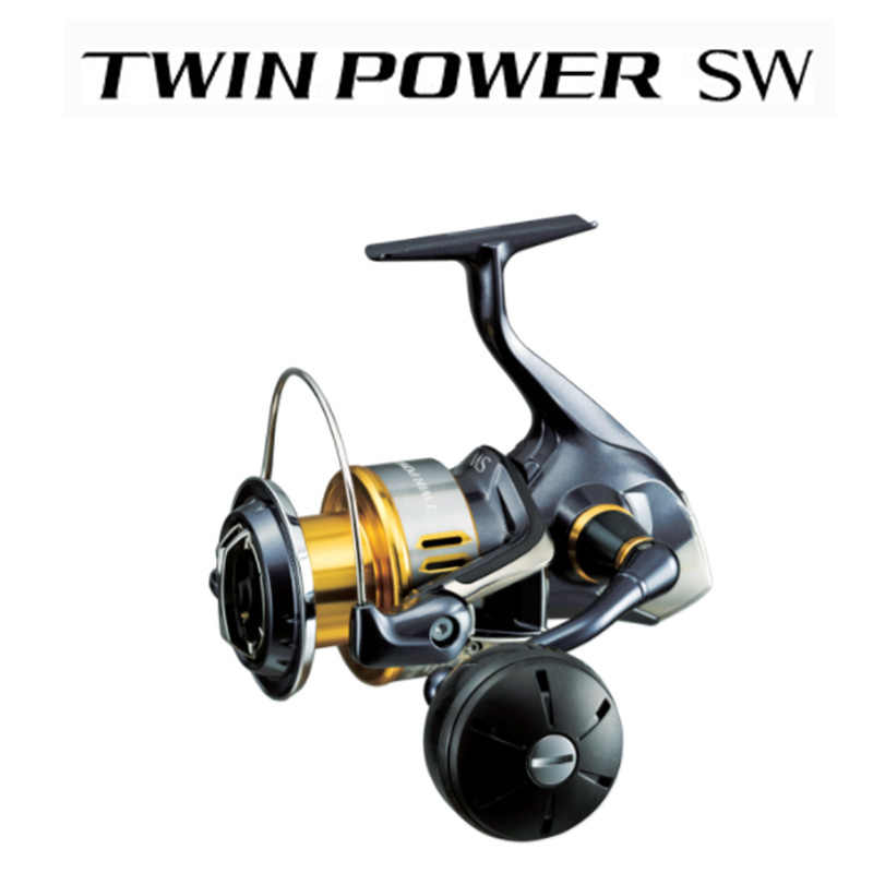 Originele Shimano Twin Power Sw 6000PG 8000PG 10000PG 14000XG 11 + 1BB Hagane Zeewater Reel Fishing Saltwater Wiel