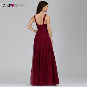 Image 2 - Bridesmaid Dresses 2020 Ever Pretty 5 Style Womens Fahion A line V Neck Elegant Long Chiffon Wedding Party Gowns