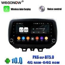 "DSP IPS 9 ""Android 10,0 8Core 64G ROM 4G RAM reproductor de DVD del coche GPS mapa RDS Radio wifi 4G Bluetooth 5,0 para Hyundai IX35 Tucson 2018"