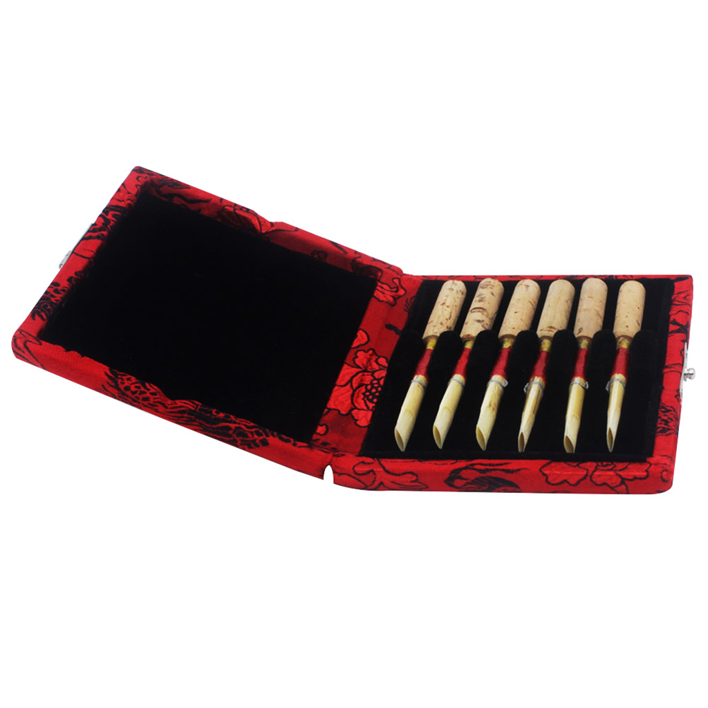 Practical Cloth Oboe Reed Carrying Case Holder, Protects 6pcs Reeds, Red