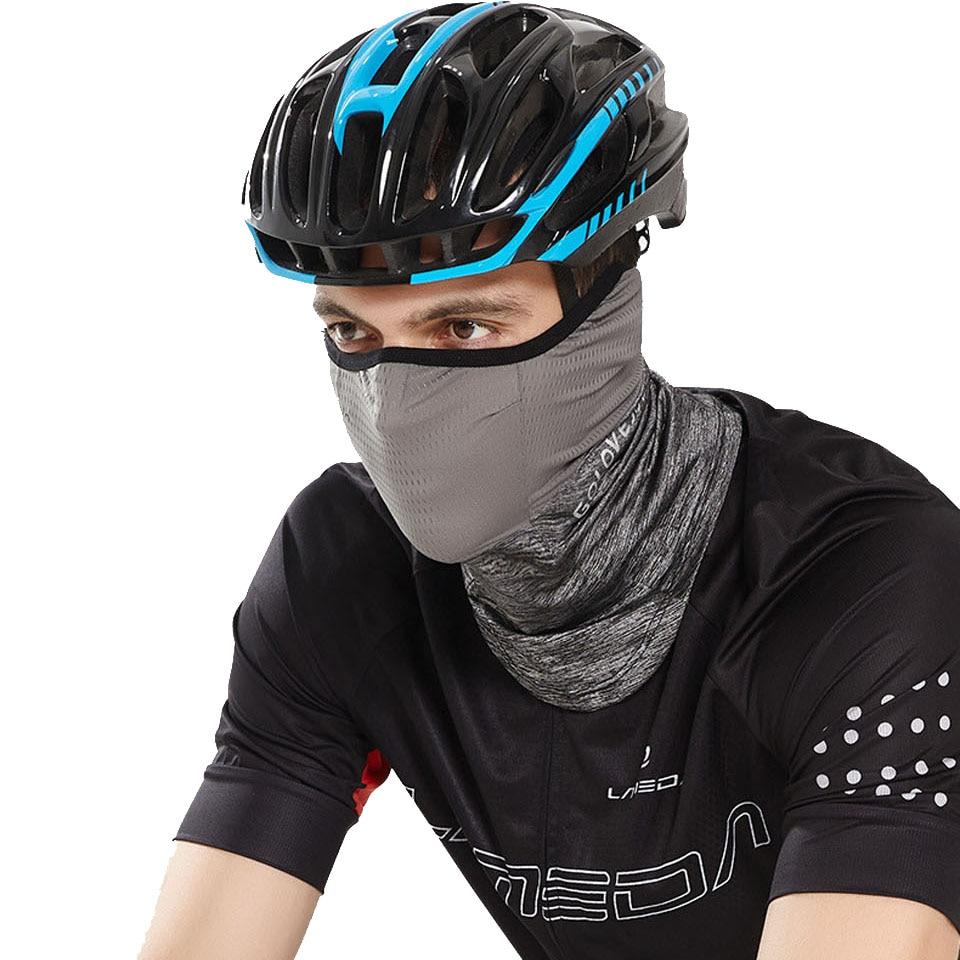 Summer Black Caps  Running Scarf Anti-UV Headwear Bicycle Bandana Sports Fishing Mask Cover Magic Scarf ice silk 5