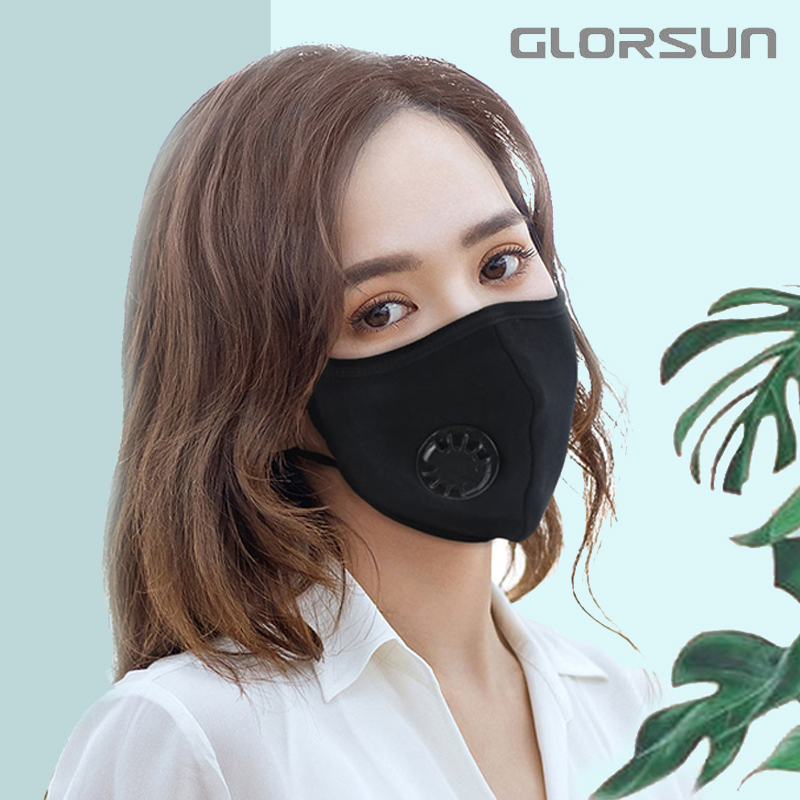 GLORSUN Mask Mouth Face Black Anime Anti Dust Pollution PM2.5 Smog Mond Masker Fabric Korean With Pattern Masque Covers Fashion