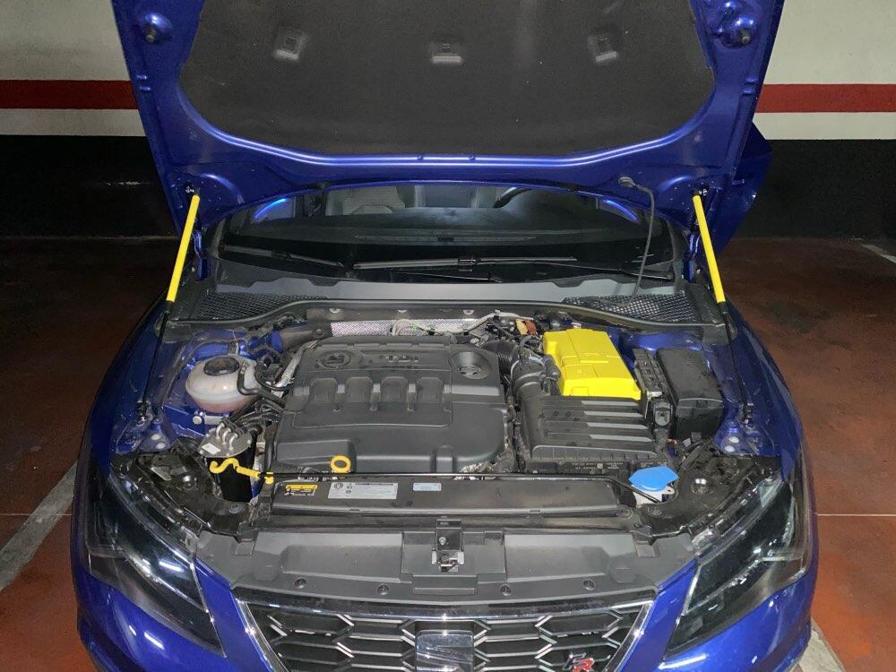 Dla SEAT Leon MK3 2012-2019 klapa maski czcionki zmodyfikuj siłowniki pneumatyczne amortyzator wstrząsów akcesoria Absorber