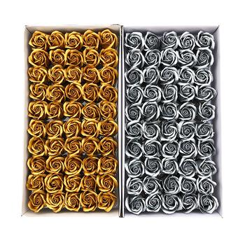 50 sztuk zestaw Dia 5cm ciało do kąpieli kwiat kwiatowy mydło kwiat róży sztuczne kwiaty dekoracyjne na ślub walentynki prezent tanie i dobre opinie NoEnName_Null CN (pochodzenie) MS01 Różany Kwiat + wazon Główka kwiata Ślub Papier 5cm 4cm soap flowers home decor