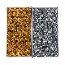 50 unids/set diámetro 5cm cuerpo baño flor Floral jabón Rose flor Artificial flores hogar Decoración Para Boda Día de San Valentín regalo