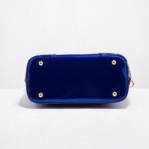 Image 5 - Ainvoev 핸드백 여자 수 놓은 광택 숄더 가방 지갑 여성 럭셔리 핸드백 여자 옻칠 PU 가죽 가방 여성을위한