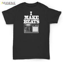 2019 New Summer Casual Men Tee Shirt I MAKE BEATS T SHIRT MPC SP1200 RECORDS VINYL PETE ROCK