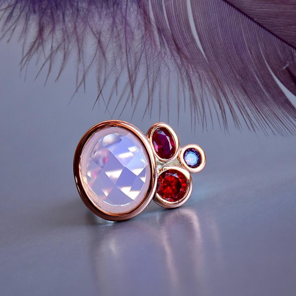 WA11703 DreamCarnival1989 Dazzling Pink Tone Zirconia Rings for Women Top Quality Radiant Cut CZ Chic Fashion Wedding Jewelry (4)