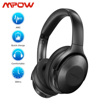 Mpow H17 Updated Version Bluetooth Wireless Active Noise Cancelling Headphone Fast Charge 30h Playtime ANC Headset For Travel