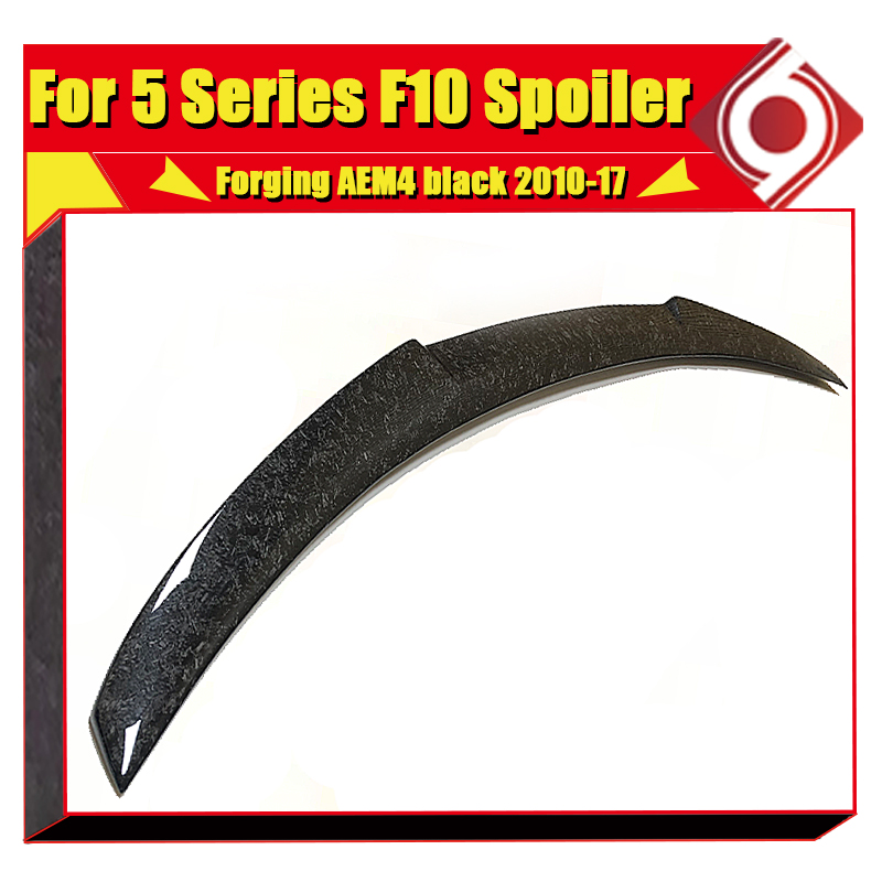F10 tail Rear Spoiler Wing AEM4 Style Forging Carbon Fiber For 5 series F10 520i 525i 530i 535d 535i 550i Rear Spoiler 2010 17 in Spoilers Wings from Automobiles Motorcycles