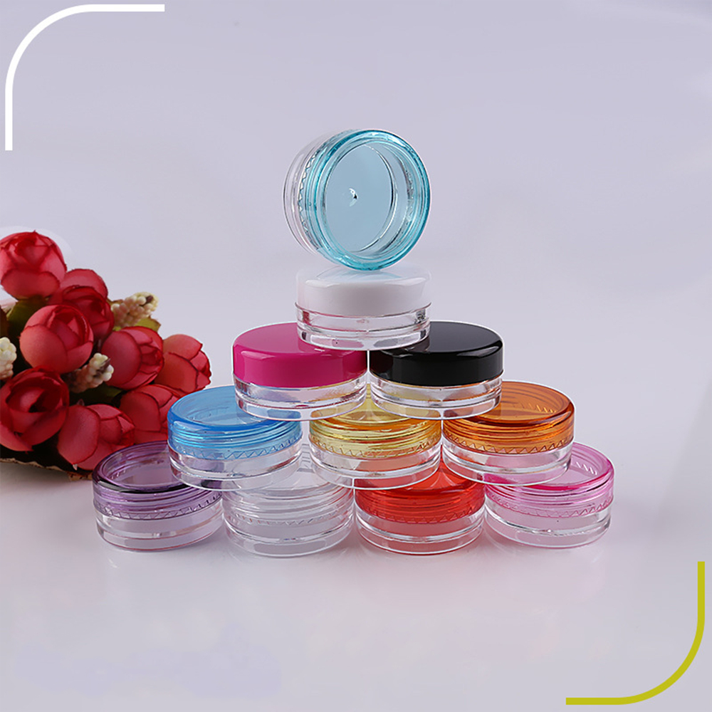 1pc/5pcs Empty Jars Refillable Bottles Cosmetics Jar Box Makeup Cream Nail Art Cosmetic Storage Pot Container Plastic Bottle