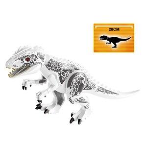 Image 4 - ジュラ紀世界恐竜フィギュアレンガティラノサウルスindominus rex i rex組み立てるビルディングブロック子供のおもちゃdinosuar