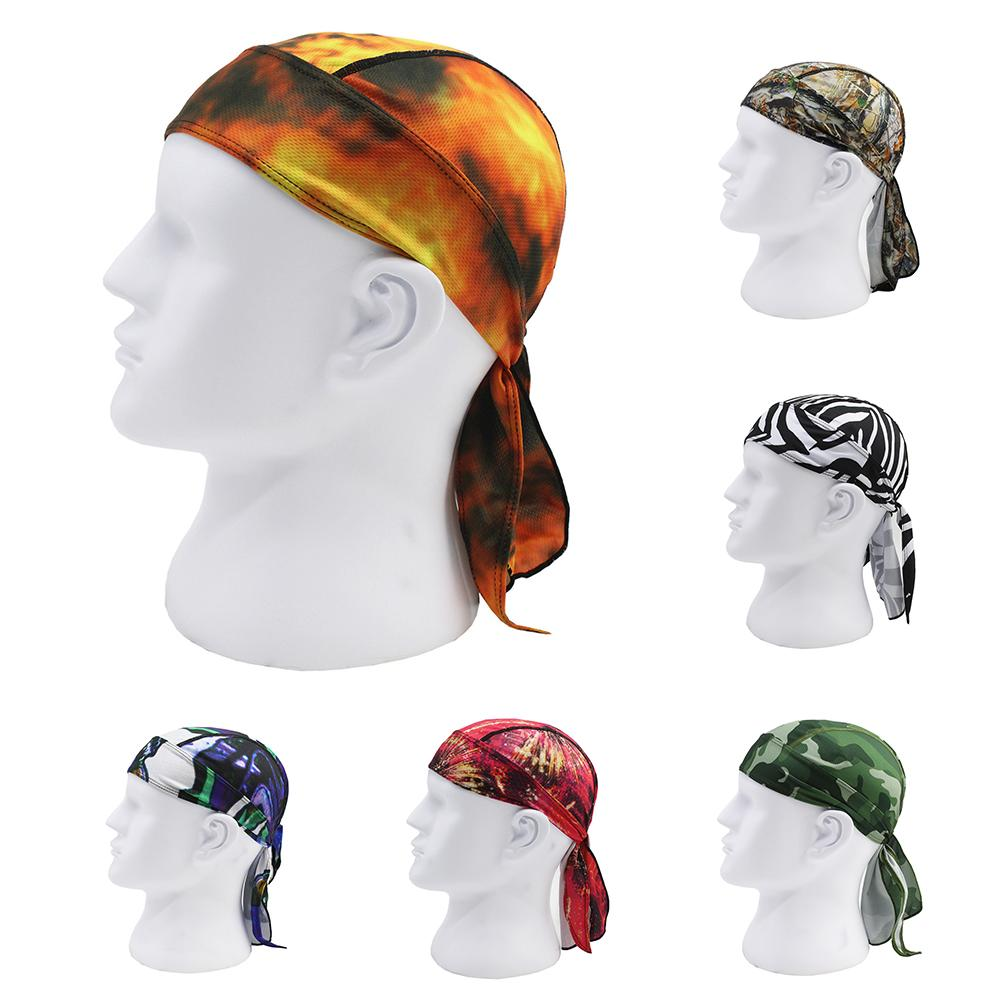 Unisex Outdoor Sport Cycling Cap Breathable Pirate Hat Bandana Headband Headwear Headdress Hair Styling Decor Accessory Gift