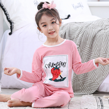 Kids pajamas sleepwear for Children Pyjamas garcons boys Long Sleeve cartoon home clothes Suit Girls Cotton Ventilation sleepers цена