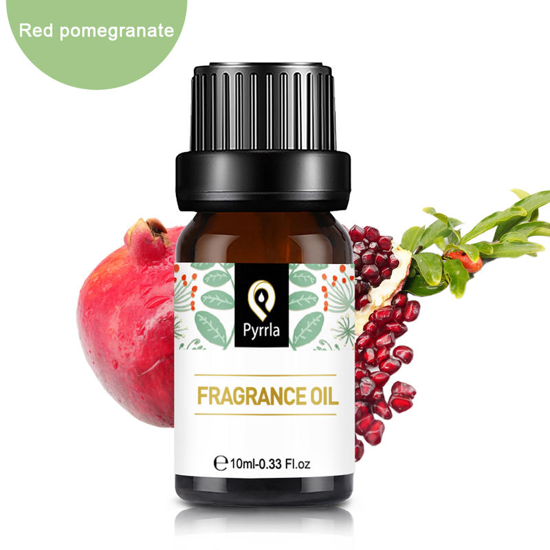 Pyrrla 10ml Red Pomegranate Fragrance Essential Oil For Aromatherapy Flower Fruit Essential Oils Grape Cypress Relieve Stress