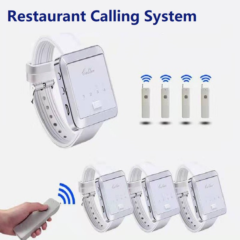 315/433MHz  Wireless Restaurant Calling Paging System  Watch Receiver+ Signal Repeater+remote Control