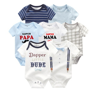 Image 5 - 2019 Baby Romper 7PCS/Lot Cotton Unisex Baby Girl Clothes 0 12M Newbron Baby Clothes Short Sleeve Baby Boy Clothes Roupa de bebe